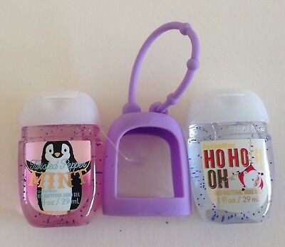 Bath & Body Works  2 x Hand Sanitizer Anti-Bac Gel & Holder, Christmas Gift 7