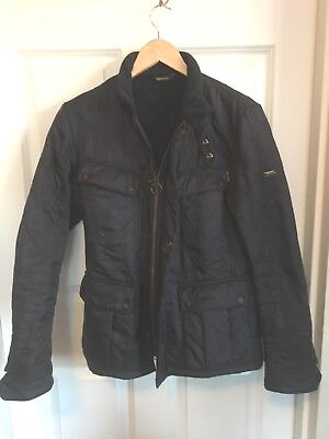 BARBOUR INTL. Men's Nearly New ARIEL POLARQUILT Navy JACKET Size S SMALL