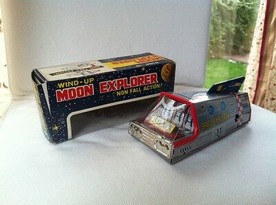 Rare T.T Made In Japan Wind-Up Moon Explorer