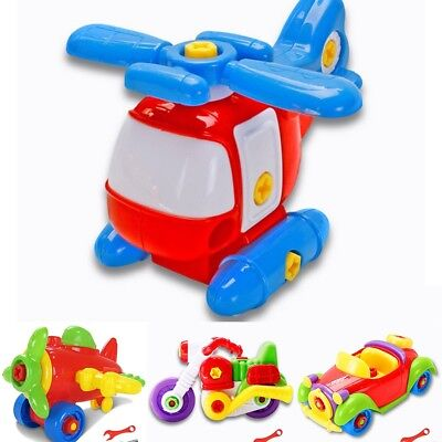 Kids Baby Learning Airplane Disassembly Assembly Puzzle Educational Toys Hot