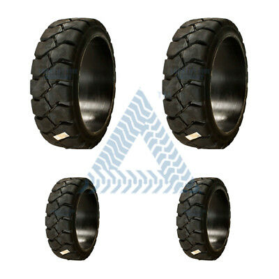 21x7x15 TIRES and 16x5x10-1/2 TIRES  Press On Tires - Set of 4 -black traction