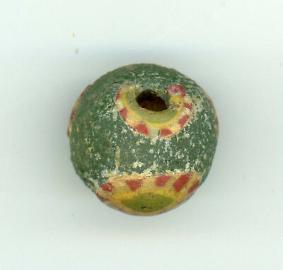 Rare Ancient Roman Glass Eye Bead ~ c. 100 BC-  400 AD - Large 17.5mm x 15.7mm