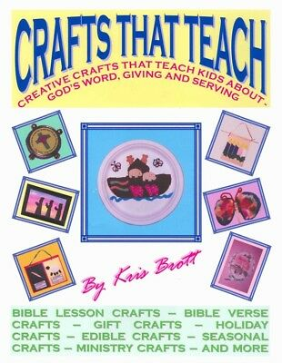 CRAFTS THAT TEACH Vol 1 - Book on CD - 30 Kids Crafts BIBLE/CHRISTIAN/HOLIDAY