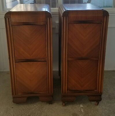 Pair of Art Deco Side Tables From a Vanity