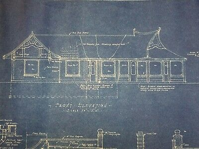 1937 Wadhams Oil Gas Filling Station Blueprints Wausau Wisconsin Vintage WI