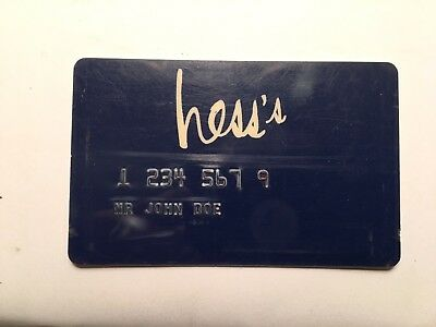 Hess's Department Store TRAINING ROOM Credit Card