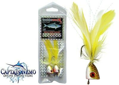 New Generation Quality 2Pk Small Surf Popper Tackleworx Surf Fishing Lure Tp100Y