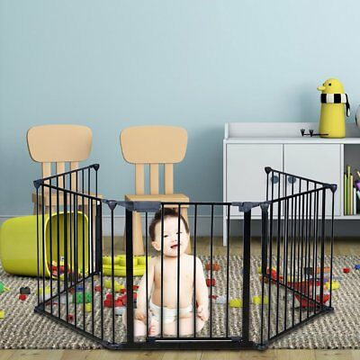 Gate Baby Child Fire Safety Guard Fireplace Pet Fence Metal Fireguard Hearth SE