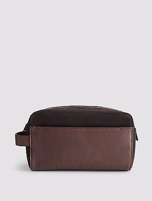 6030466305 NWT CALVIN KLEIN Marroon Mens Timothy Canvas Dopp Kit Bag -  37.99 ...