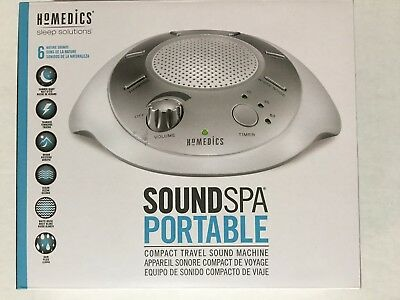 Homedics Sleep Solutions Portable SoundSpa Sound Machine Sleep, 6 Nature Sounds