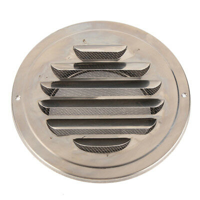 100mm Stainless Steel Round Circle Air Vent Grille Ducting Ventilation D9T3