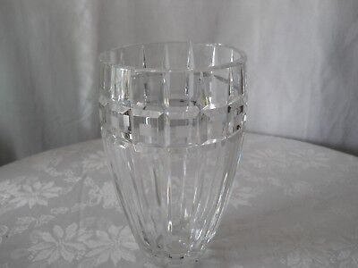 Wonderful Vintage Waterford Marquis Signed Quadrata 8 Inch Clear Crystal Vase