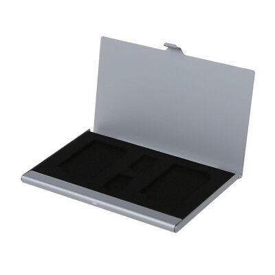 Aluminum Memory Card Case (Single Side) for 2*SD Card + 2*TF Card G8A1