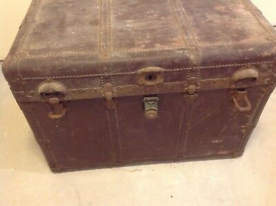 Ventiage steamer trunk chest