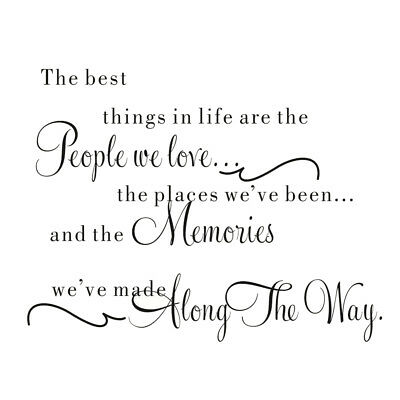 """""""The best thing in life..""""with art words wall quote sticker deca U9M8"""
