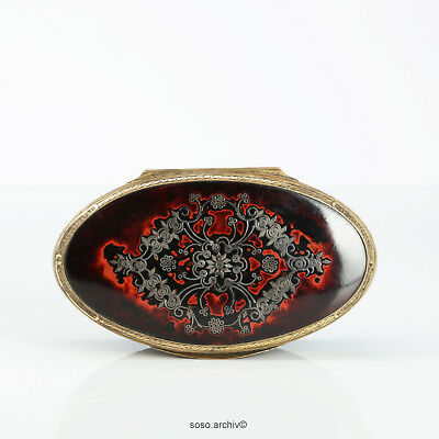 Large Oval Snuffbox Paper Mache in schildpatt-optik Around 1800 England