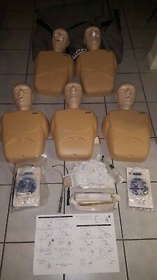 CPR PROMPT Training Manikin Set 5 heads 5 torso Adult/ packs of lung bags.