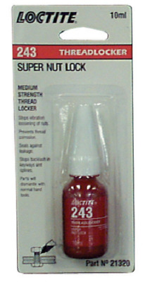 NEW Loctite 243 Medium Strength Super Nut Lock 10ml 44089