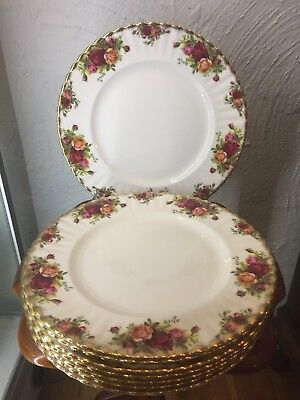 Royal Albert Old Country Roses Large Dinner Plate 26.5cm  Early Edition 1962