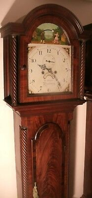 "Antique Carved Oak Automation Ship  "" London  ""  Longcase / Grandfather  Clock"