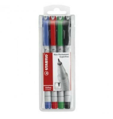1 Packung Stabilo Folienstift non-permanent superfine OH Pen 0,4 mm
