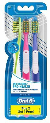 Oral-B Pro Health Anti Bacterial Toothbrush Soft Bristles  | Free Shipping