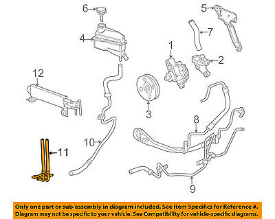 Power Steering Pressure Line Hose Assembly 3402391 fits 04-09 Cadillac SRX