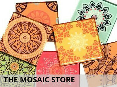 Mexican Inspired Glass Mosaic Tiles 5cm (Mix 2) - Art Craft Supplies