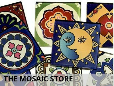 Mexican Inspired Glass Mosaic Tiles 5cm (Mix 4) - Art Craft Supplies