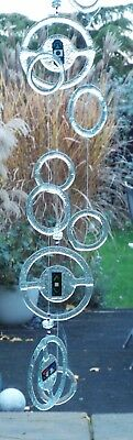 Scandinavian style glass wind chime