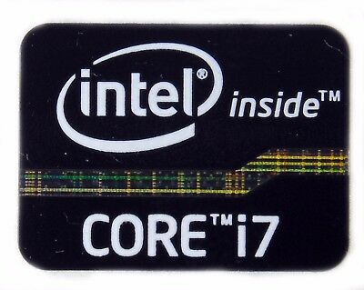 INTEL CORE i7 BLACK STICKER LOGO AUFKLEBER 21x16mm (591)