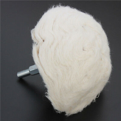 100mm Cotton Dome Polishing Wheel Mop Buffing Wheel For Rotary Tool