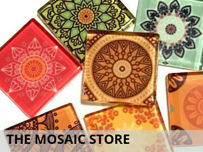 Mexican Inspired Glass Mosaic Tiles 2.5cm (Mix 2) - Art Craft Supplies
