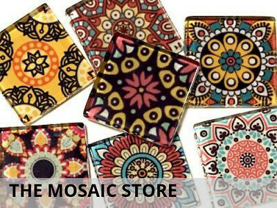 Mexican Inspired Glass Mosaic Tiles 2.5cm (Mix 1) - Art Craft Supplies