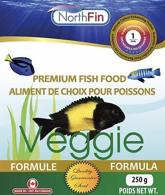 NORTHFIN VEGGIE  1 mm 2.5 kg Mbuna Tropheus Algae Scraping Slow Sinking Pellets