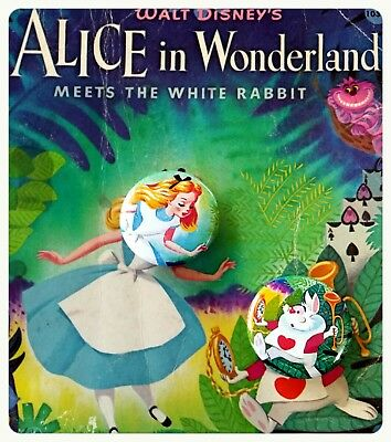 """Vintage Alice in the wonderland Pinback Buttons-1.5"""" Cute Pinback Buttons Set"""