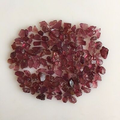 100 Ct Scoop Natural Rhodolite Garnet Purplish Pink Raw Rough Loose Gemstone Lot