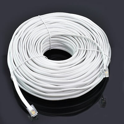 5 LOT 25FT Feet RJ11 4C Modular Telephone Extension Phone Cord Cable Line Wire