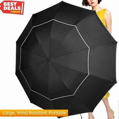 Fit-in Bag Golf Umbrella Compact & Lightweight, 63inch Rain/Wind Resistant