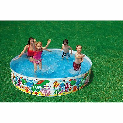 Intex Inflatable Swimming Pool Children Inflate Snapset Kiddie For Kids 8X18 New