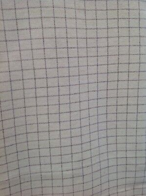 100% Woolen Check Fabric Vintage But Unused. Ideal Upholstery Famous Fox Bros.