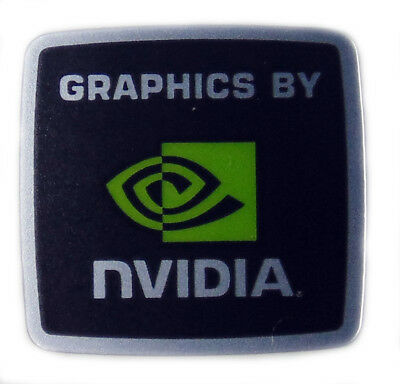 GRAPHICS BY NVIDIA STICKER LOGO AUFKLEBER 18x18mm (134)