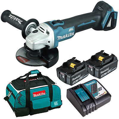 Makita 18V Li-Ion Brushless Angle Grinder 125MM Battery 4.0ah Combo Kit AU Stock