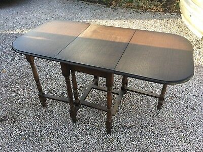 Antique Victorian Mahogany Drop Leaf Fold Out Centre Table (Extendable Table)