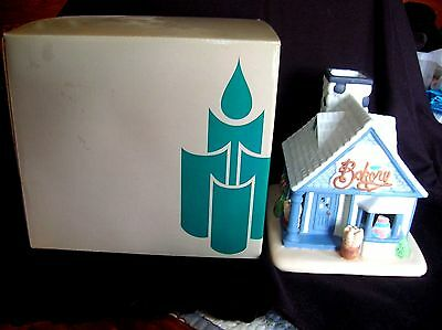 Partylite-The Cottage Bakery-House-Candle Holder/Votive Holder-Bought 1997-Box