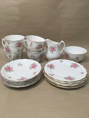 Vintage Melba Bone China 6 X Cake Plates ,tea Cups & Saucers,sugar Bowl,milk Jug