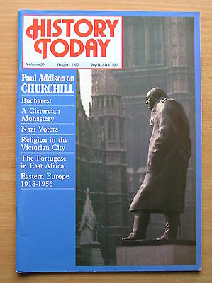 History Today Magazine - Vol 30 August 1980 - Churchill Bucharest Eastern Europe