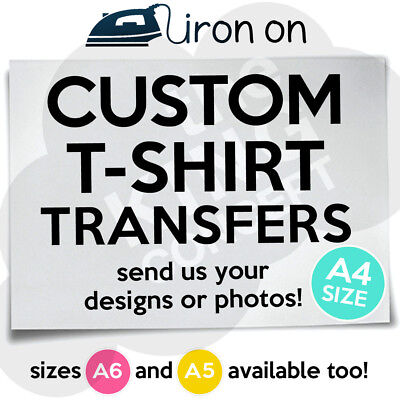 Custom Iron On T-Shirt Transfer A4 Your Image Photo Design Personalised Hen Stag