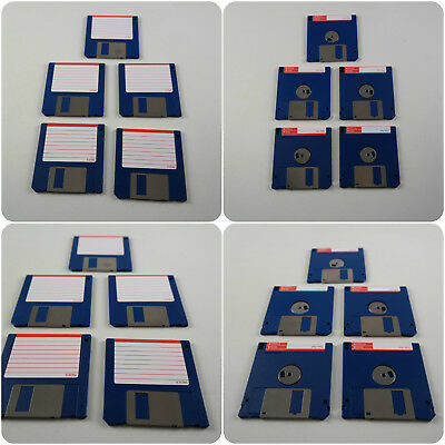 "5 3.5"" DS DD Blank Floppy Disks Amiga formatted fully checked Atari ST PC"