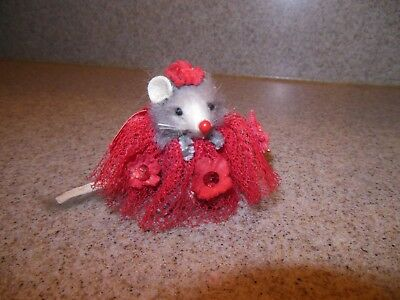 Little Mouse Factory Mouse In Red Lace Dress Fast Free Shipping